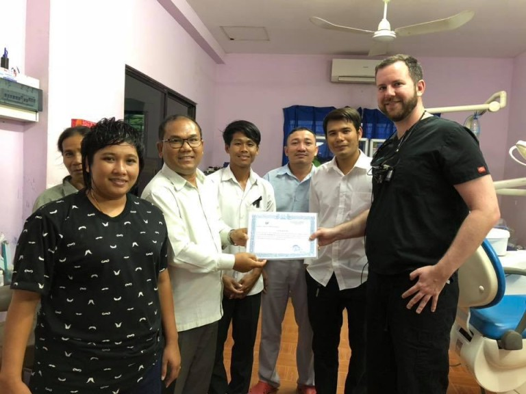 Cambodian dentists, nurses and staff